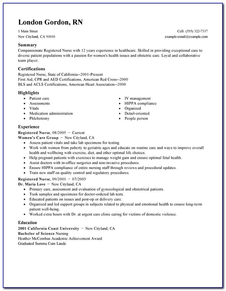Rn Resume Samples   Resume Template 2017 In Nursing Resume Template 2017