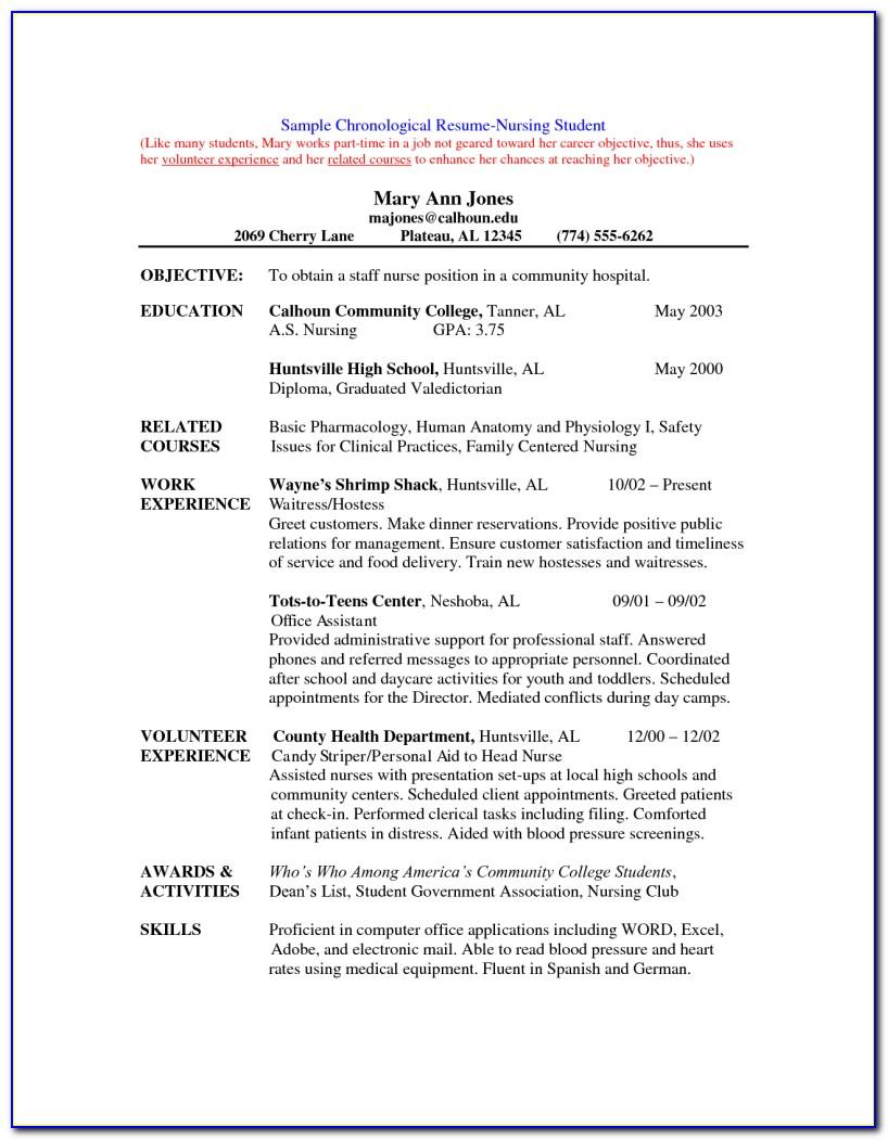 Sample Resume For Nursing Director Position