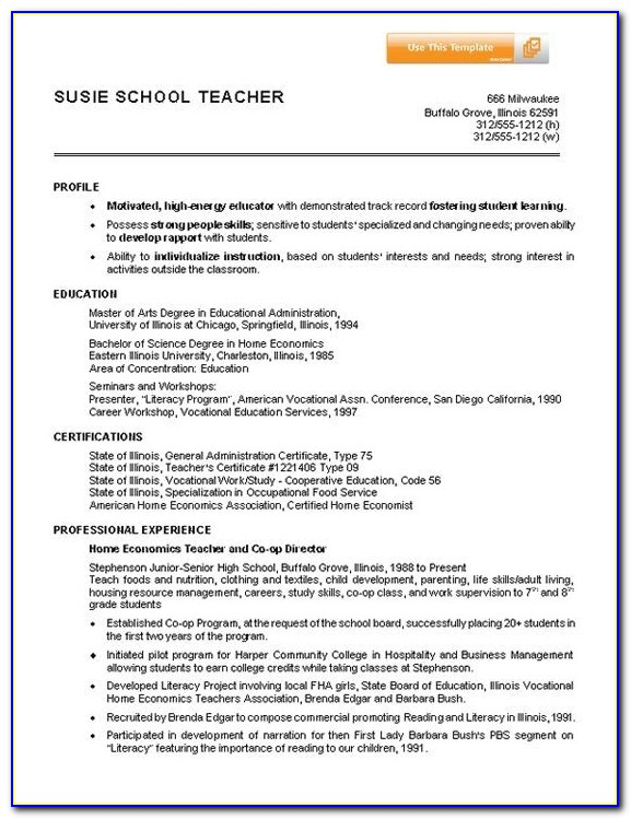 7 Best Images About Resumes On Pinterest | Example Of Resume Inside Sample Resume For Teachers Without Experience