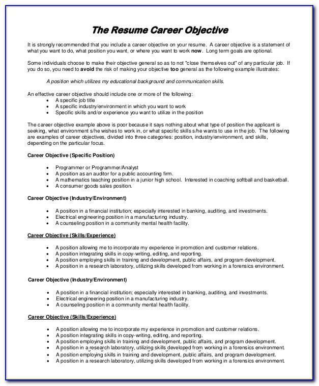 Samples Of Good Resume For Fresh Graduates