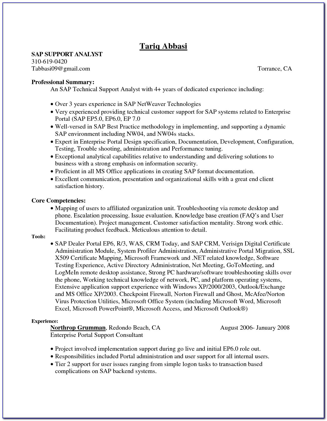 Sap Security Consultant Resumes