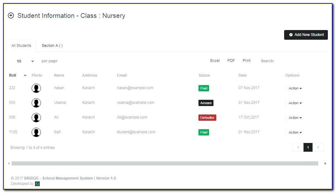 School Management System Template Free Download In Php