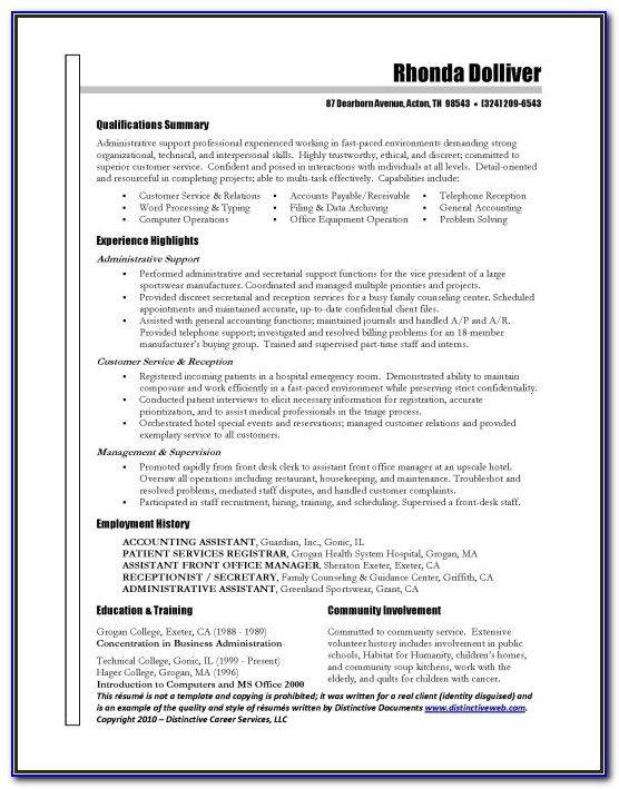Get Resume Done Professionally Great Administrative Assistant Within Getting Cv Professionally Written