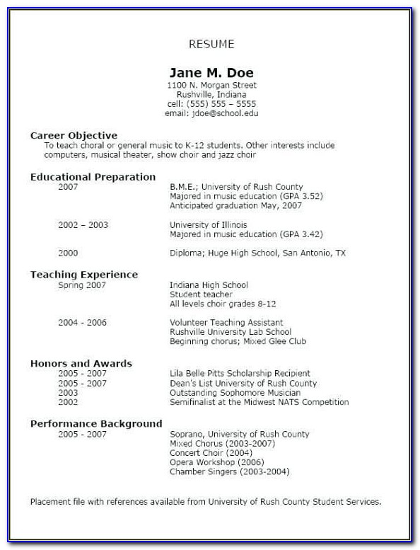 ☠ 40 Simple Resume Format For Students Show Me How To Write A Resume