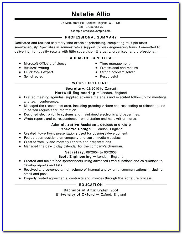 Show Me Good Resume Format