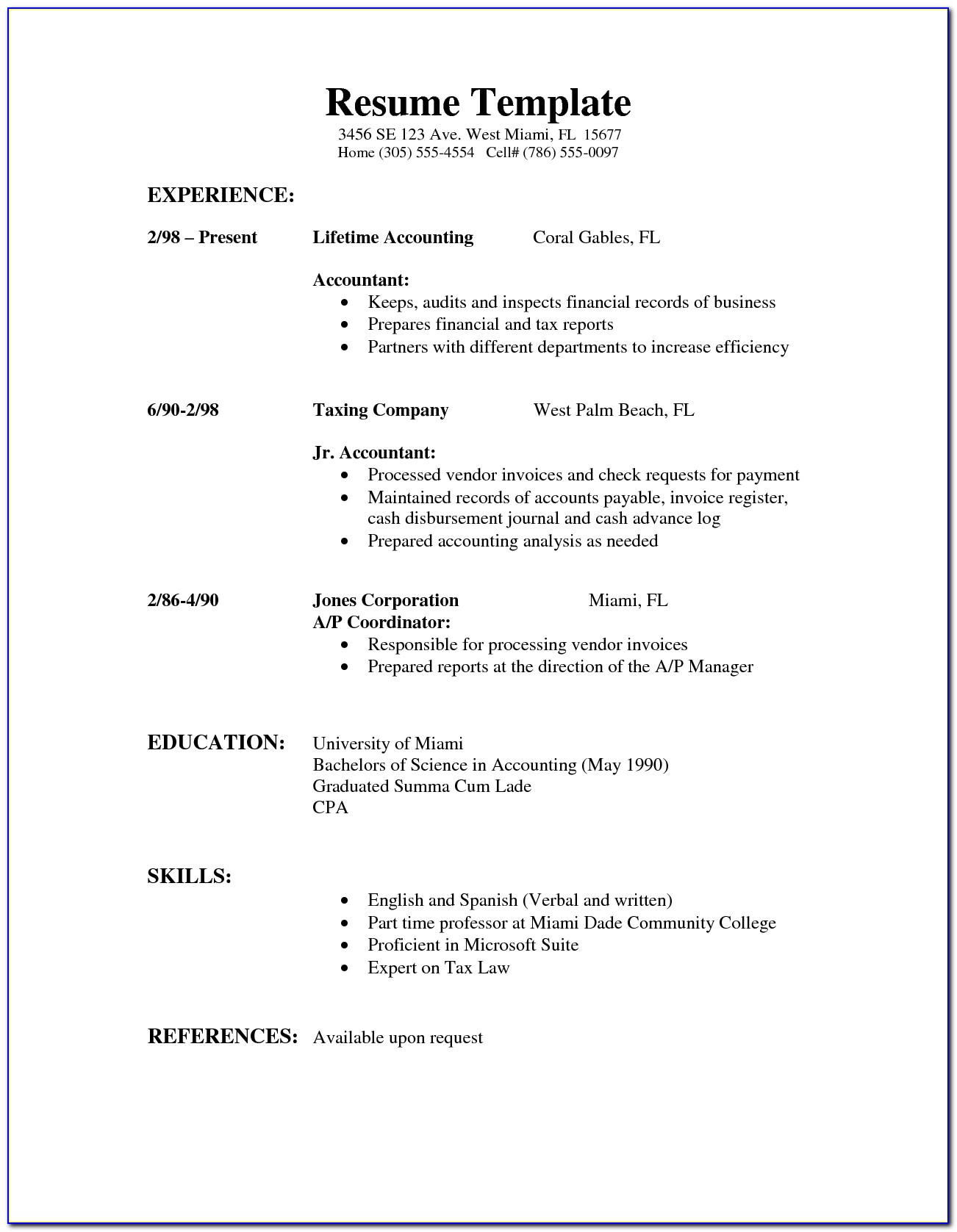 Simple Example Of Resume Objective