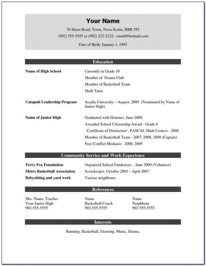 Simple Job Resume Format Pdf Download