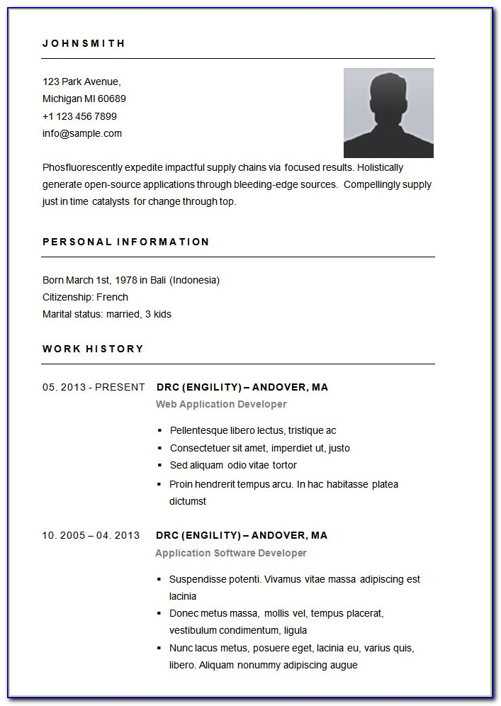 Free Basic Resume Templates Microsoft Word Basic Resume Template Basic Resume Sample Format Basic Resume Sample Format