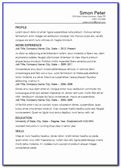 Best Resume Builder Unique Simple Resume Maker Best Resume Creator For Best Resume Builder App