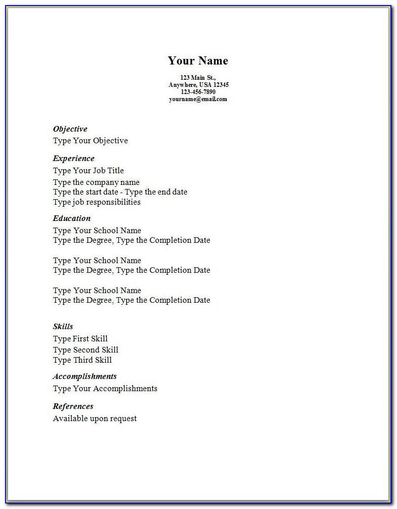 Simple Resume Sample Format Philippines