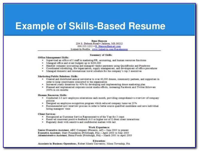 Skills Based Resume Template 2018
