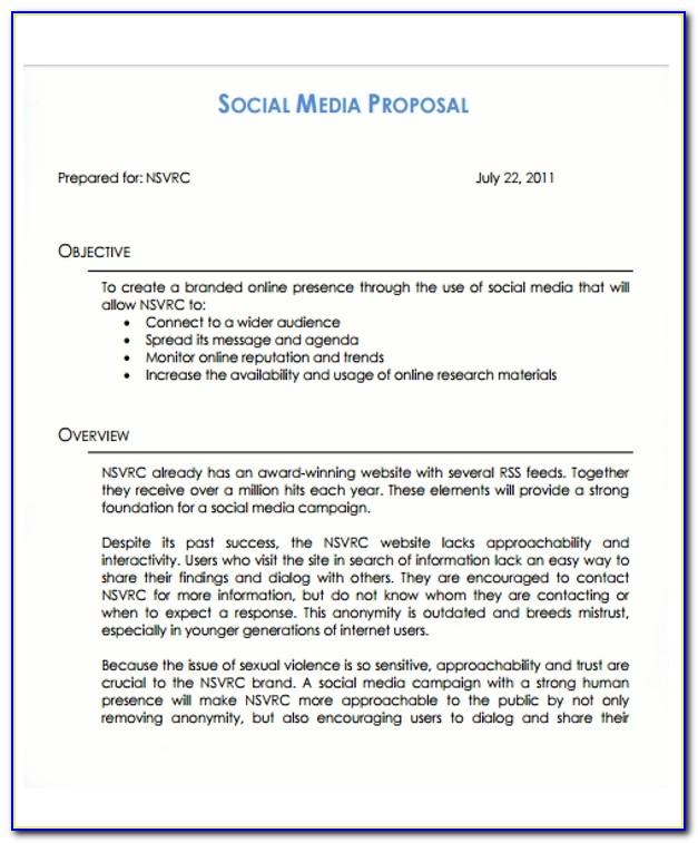 Social Media Proposal Template Free Download