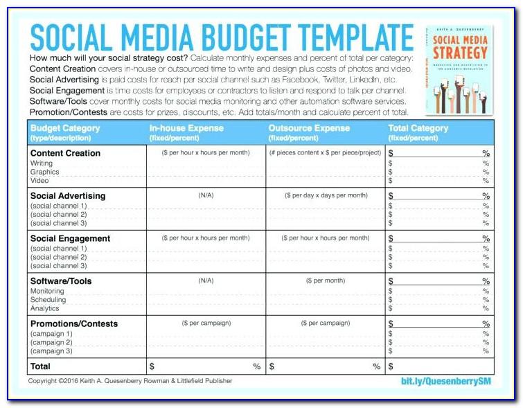Social Media Proposal Template Sample