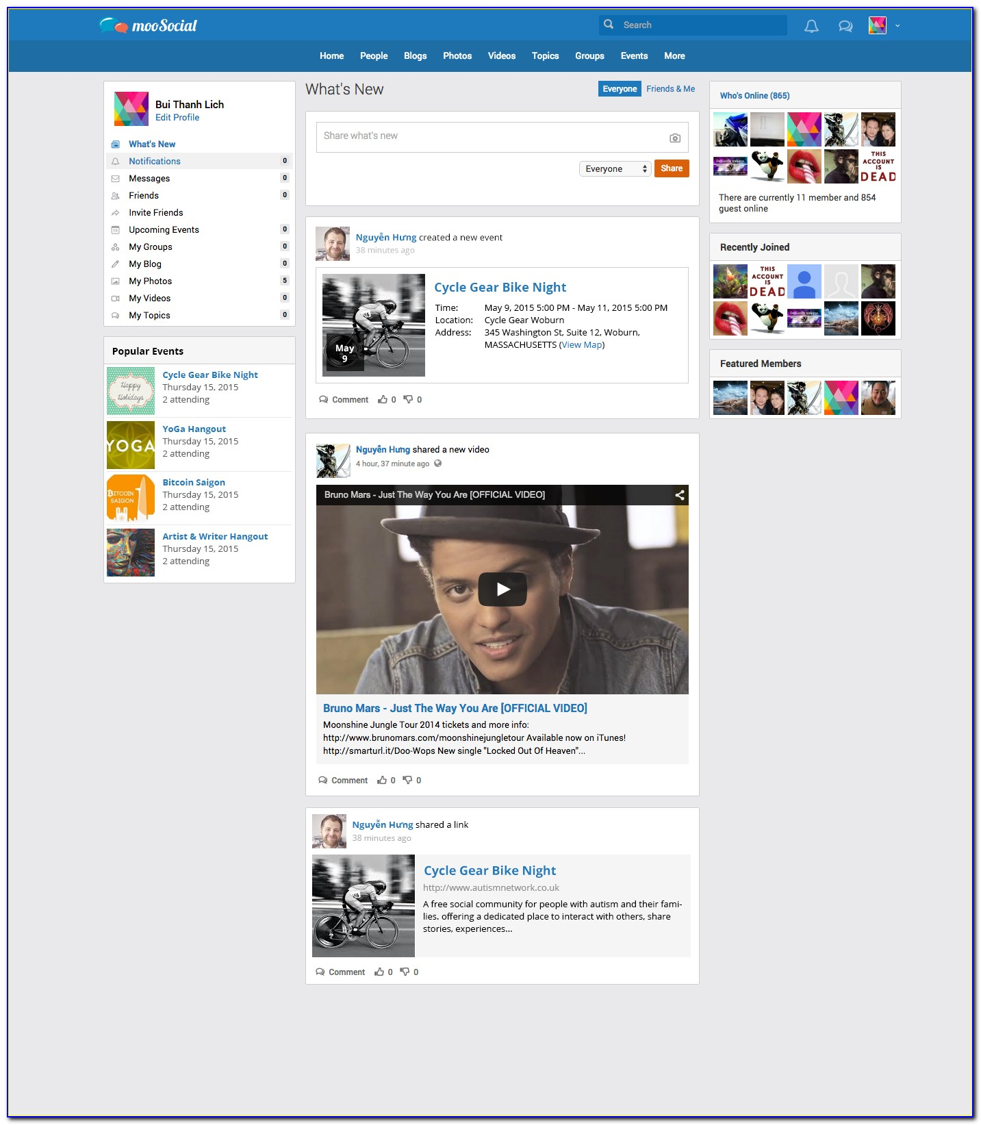 Social Networking Sites Templates Bootstrap