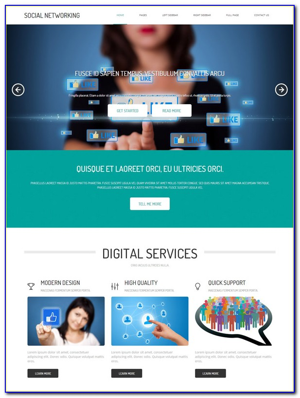 Social Networking Sites Templates Php