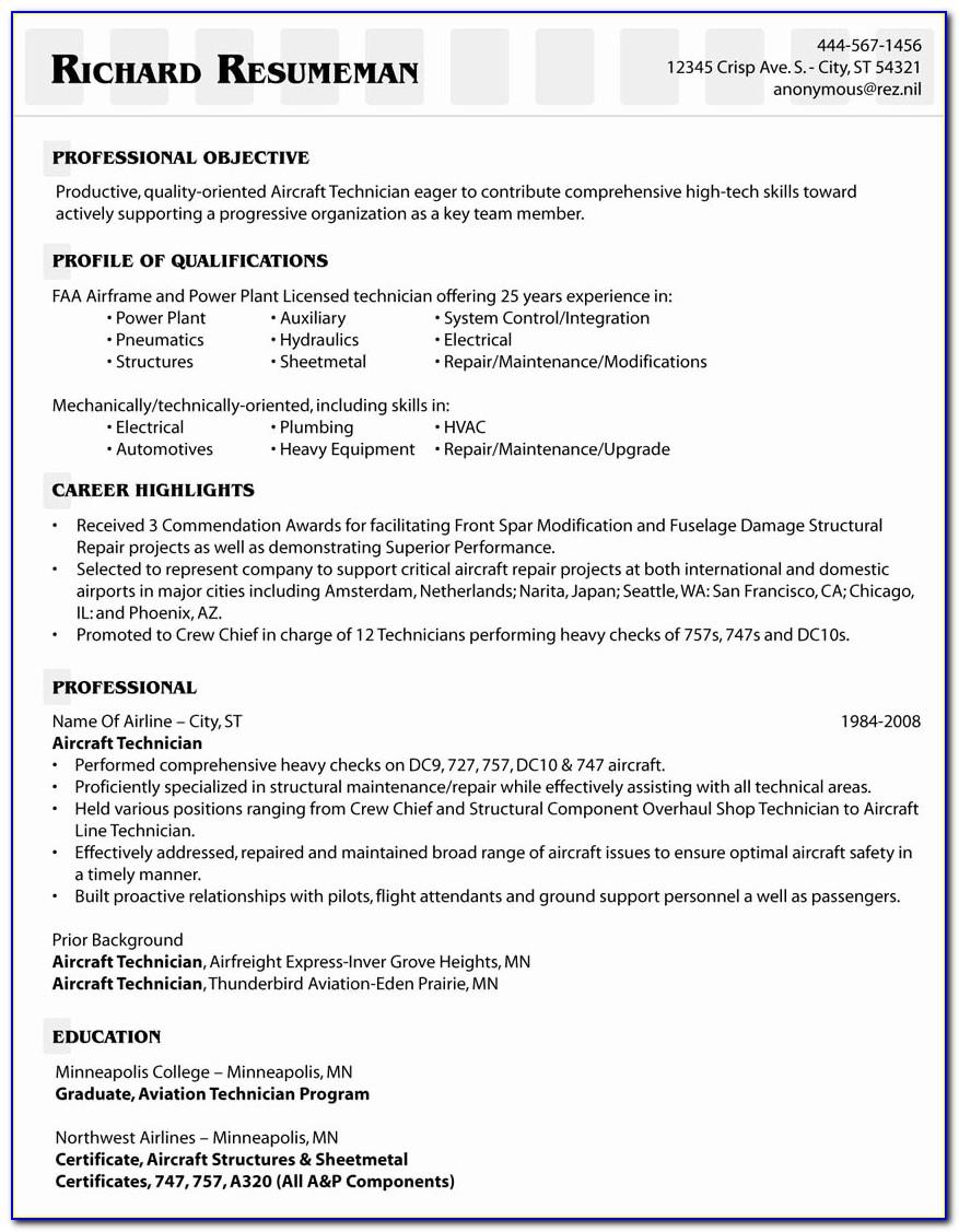 Solar Installation Technician Resume