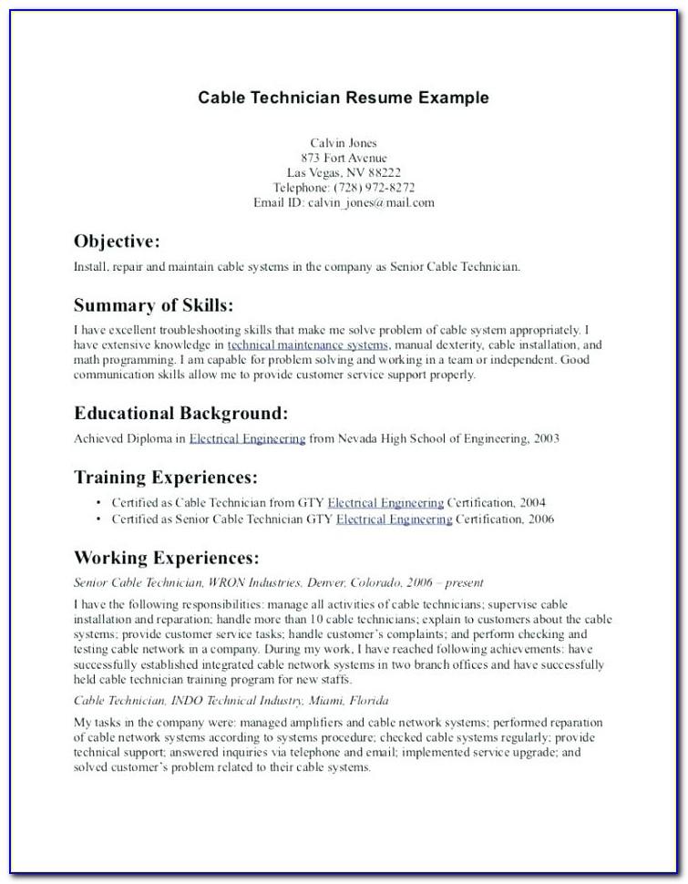 Solar Installer Resume Example