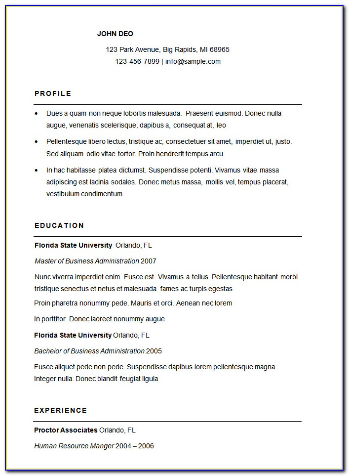 Standard Resume Cover Letter Samples