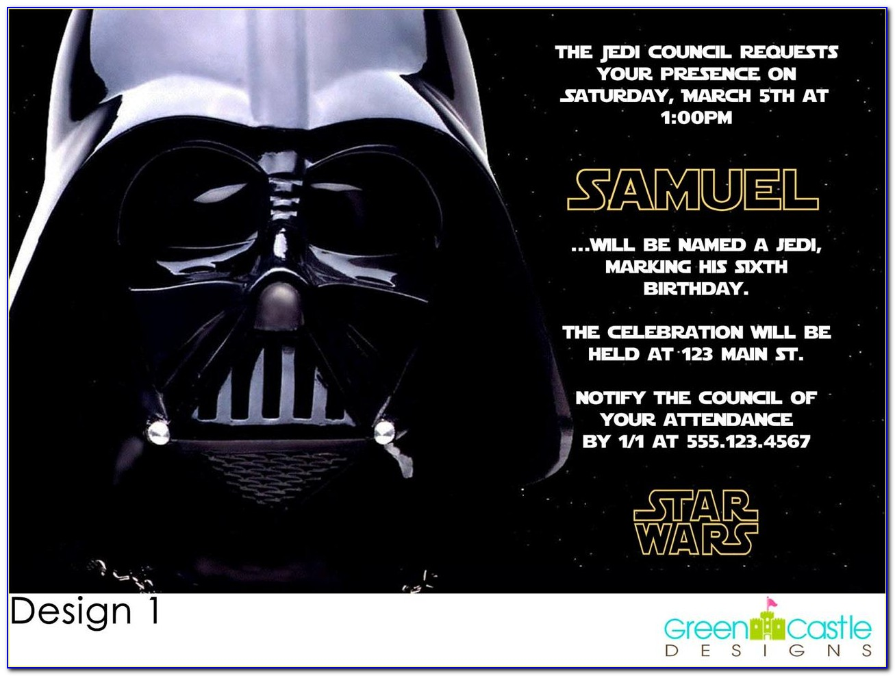 Star Wars Birthday Invitations Templates Free