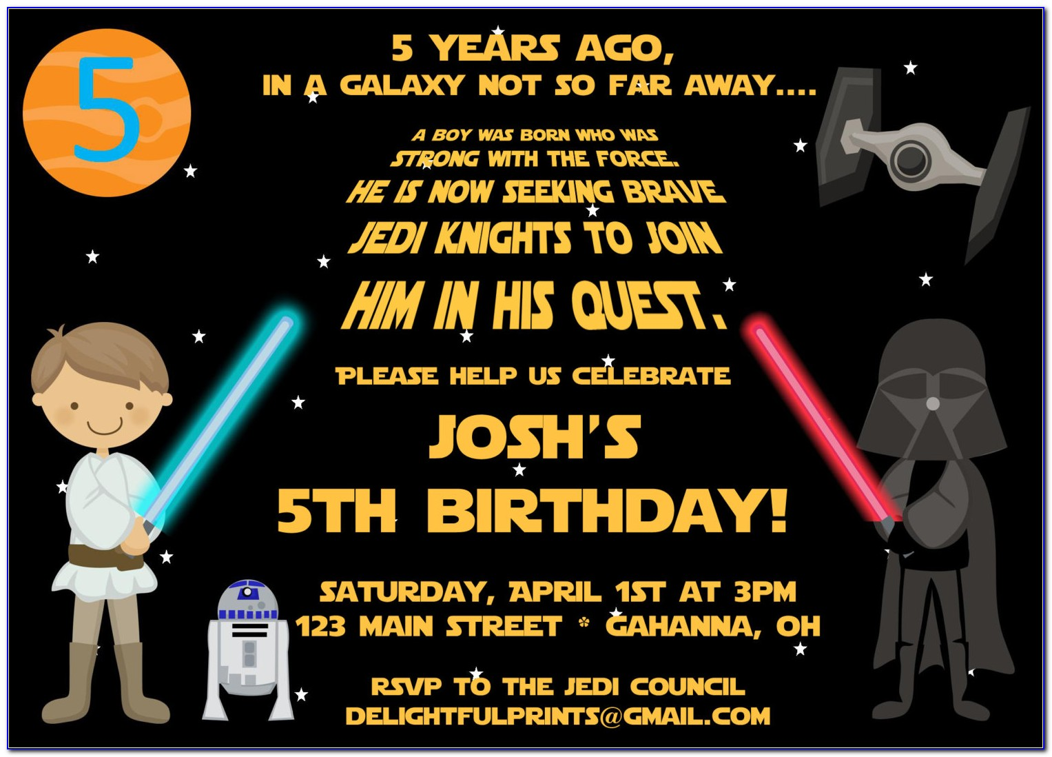 Star Wars Birthday Party Invitation Templates Free