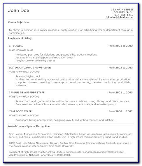 Step By Step Instructions On How To Write A Resume