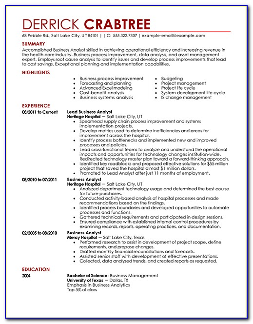 Templates Of Resumes On Word