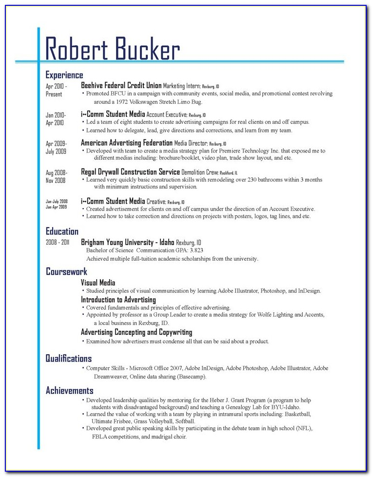 The Best Resume Layout