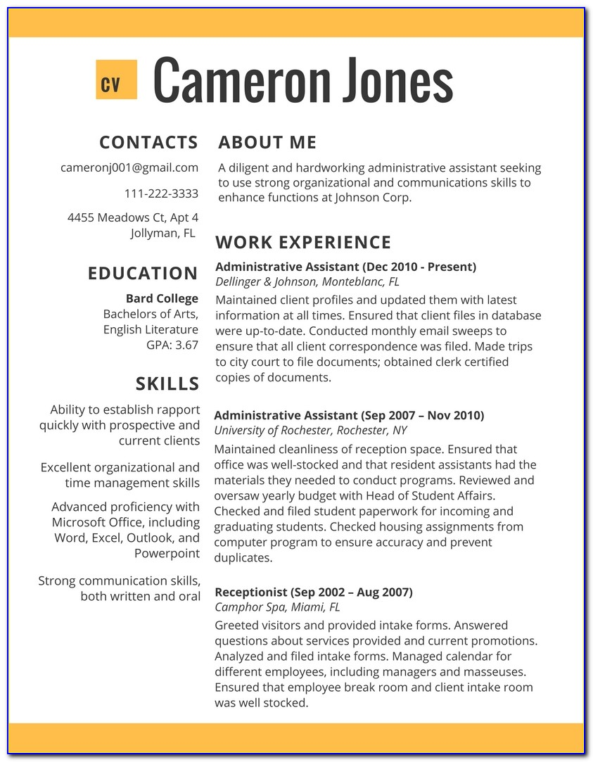 Best Resume Examples 2017 Online   Resumes 2017 Throughout Job Resume Template 2017