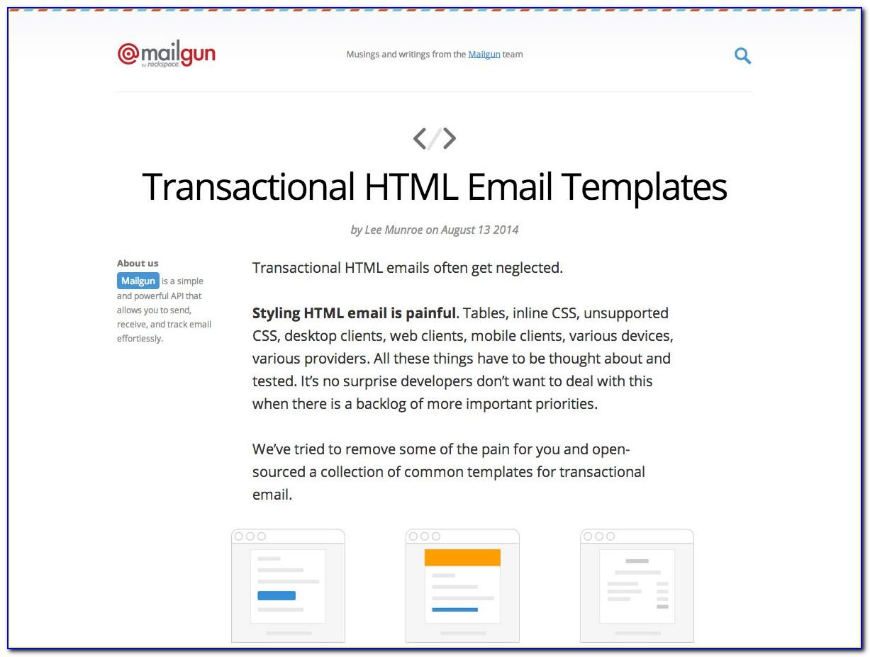 Transactional Email Template Github