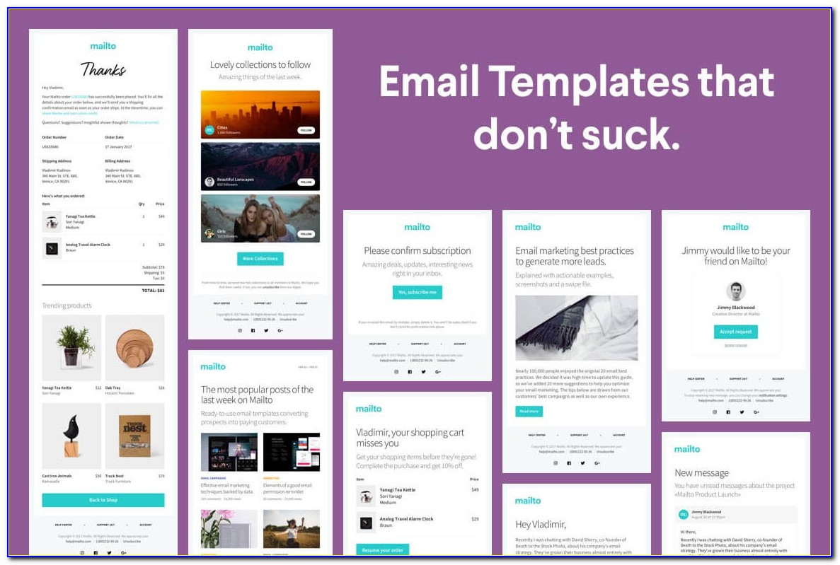 Transactional Email Template Html