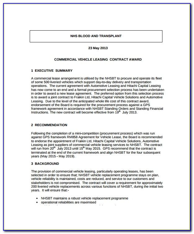 Truck Lease Agreement Template Word