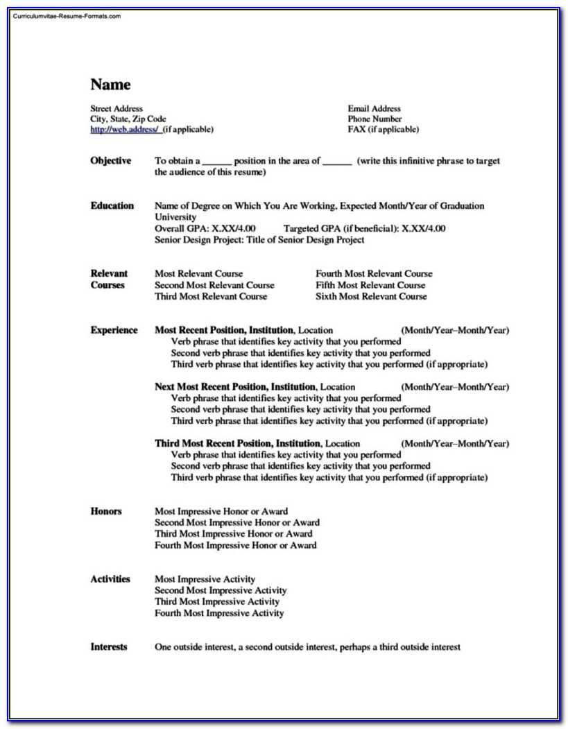 Totally Free Resume Template
