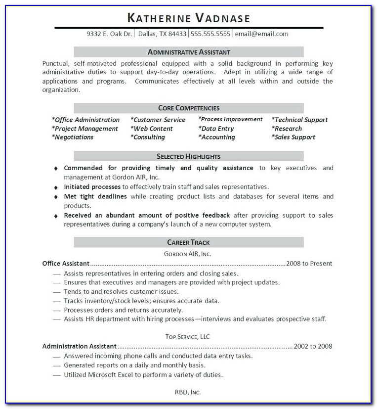 Update Resume Format For Freshers
