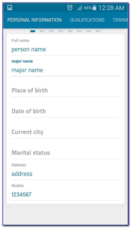 Upload And Edit Resume App