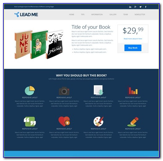 Video Landing Page Template Free