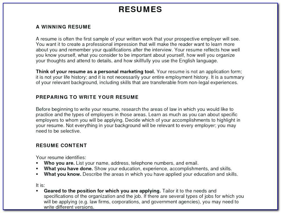 View Free Resume Samples