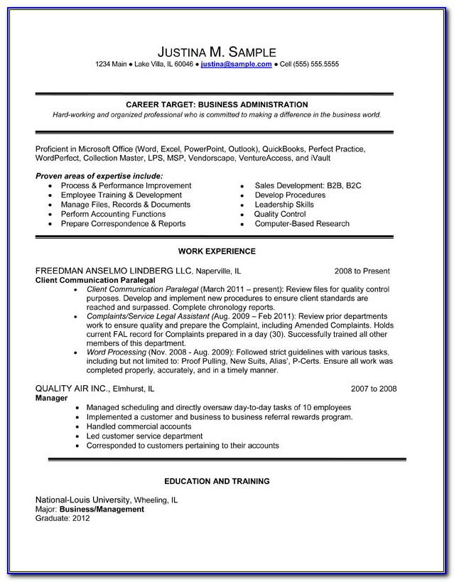 View Resume Samples