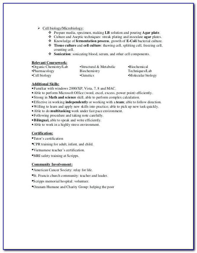 Water Damage Technician Resume