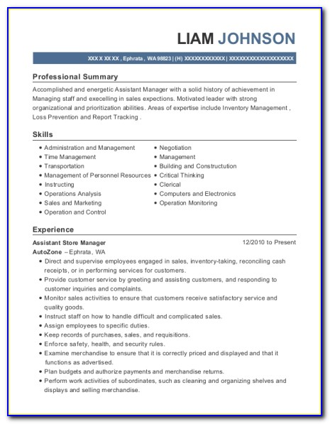 Water Restoration Technician Resume