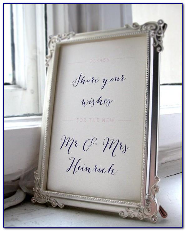 Wedding Guest Book Template Vector