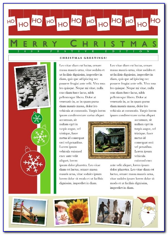 Xmas Newsletter Template Free