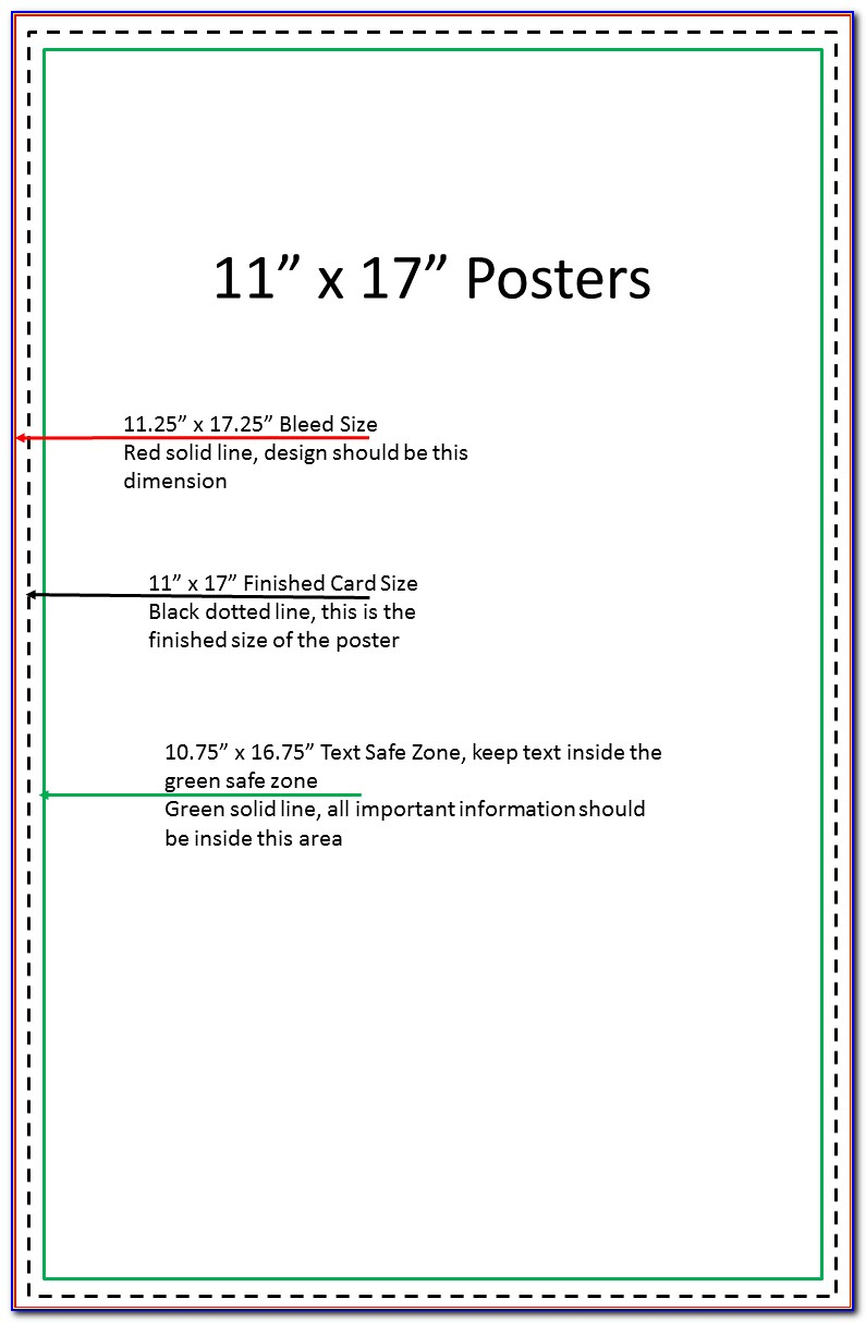 11x17 Poster Template Photoshop