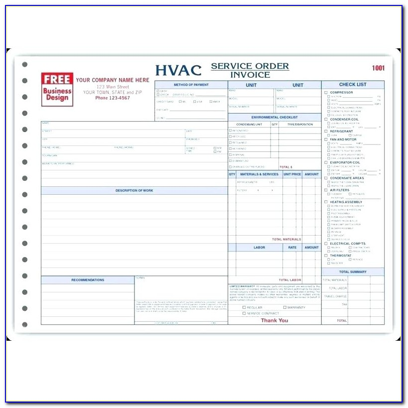 18 Free Hvac Invoice Templates Templates