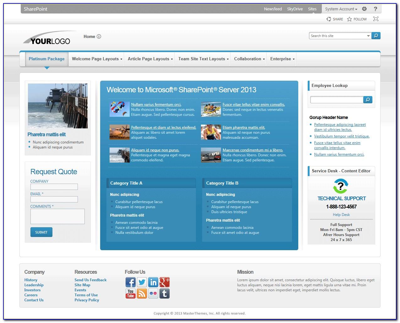 2013 Sharepoint Templates