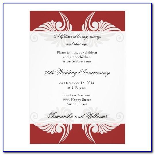 25th Wedding Anniversary Program Templates