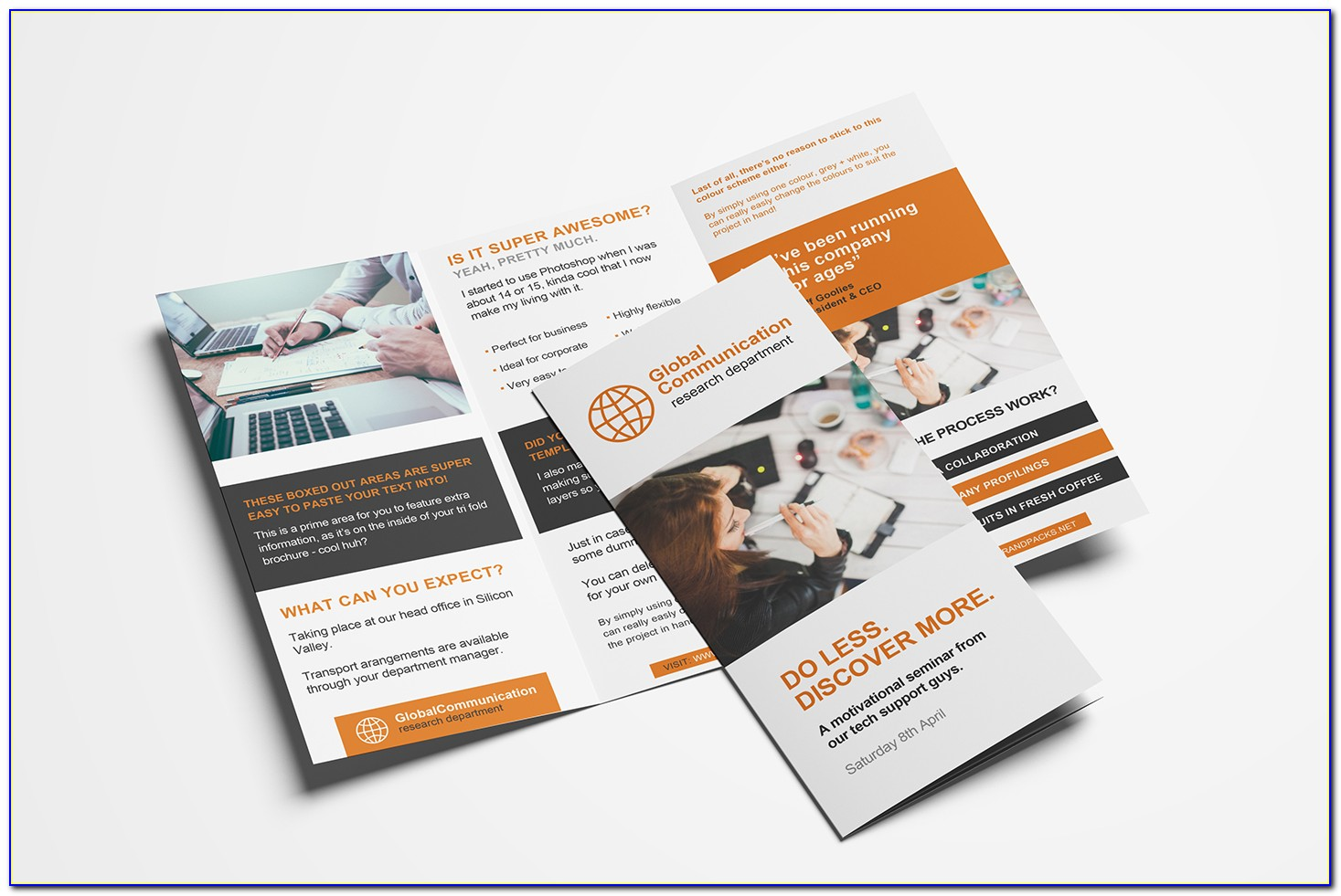 3 Fold Brochure Template Illustrator Free