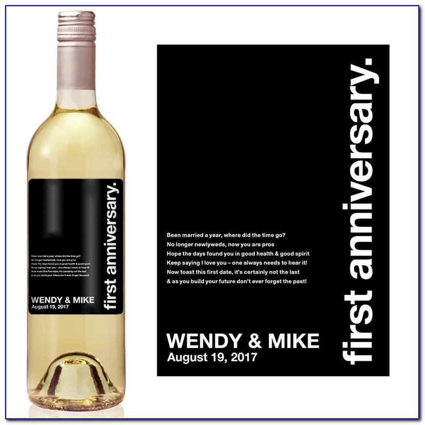 40th Anniversary Wine Label Template