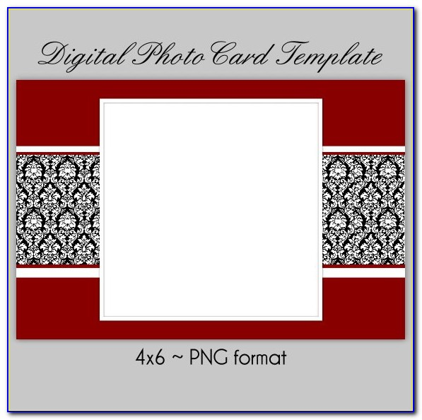 4x6 Christmas Photo Card Template Free