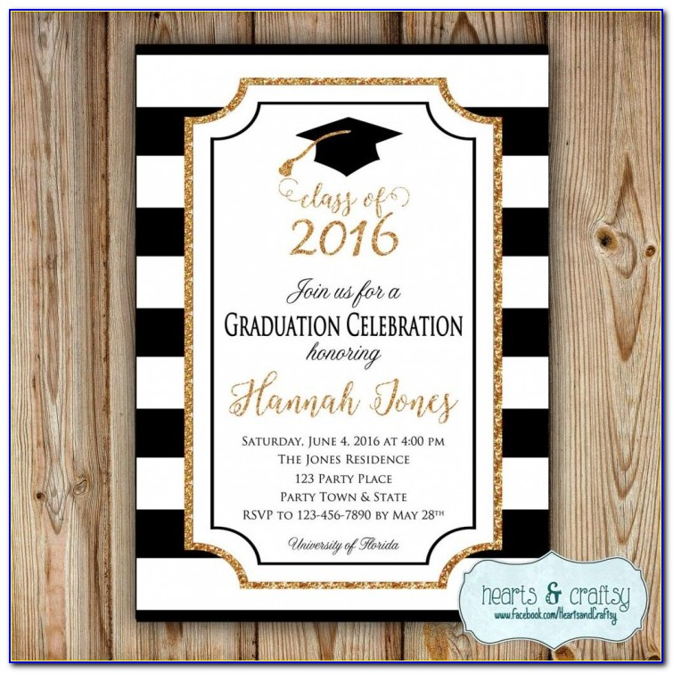 4x6 Graduation Party Invitation Templates