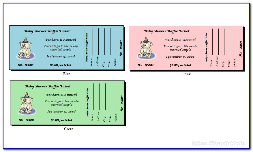 50 50 Ticket Template Free
